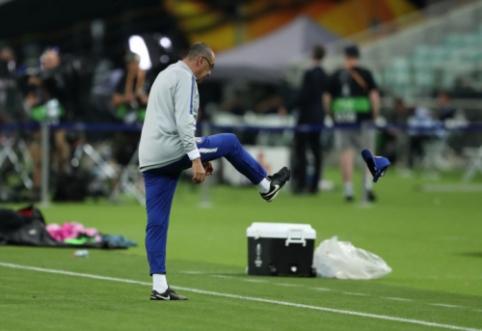 """Aistros prieš EL finalą: įpykęs M. Sarri paliko """"Chelsea"""" treniruotę"""