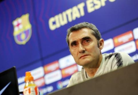 """Katalonų spauda: """"Barca"""" atleis E. Valverde, R. Martinezas — kandidatas pakeisti jį"""