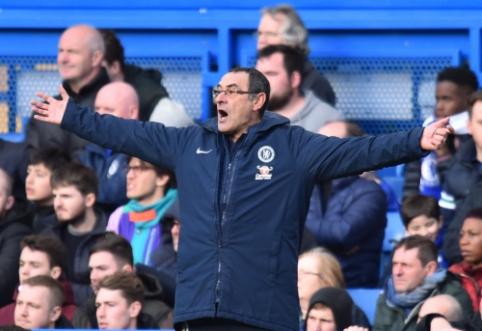 """M. Sarri norėtų toliau dirbti """"Chelsea"""" ekipoje"""