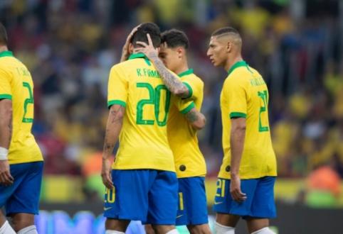 Brazilai draugiškose rungtynėse sumindė Hondūro futbolininkus