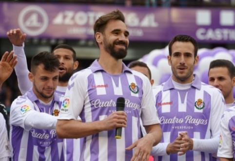 """Ispanijoje """"Real Valladolid"""" žaidėjams pareikšti kaltinimai dėl sutartų rungtynių"""