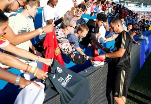 """E. Hazardas: """"Kai žaidi Madride, turi laimėti kiekvienais metais"""""""