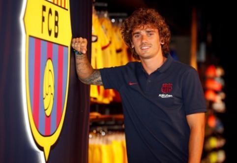 """Į Barseloną atvykęs A. Griezmannas: """"Nekantrauju pradėti žaisti su Messi"""""""