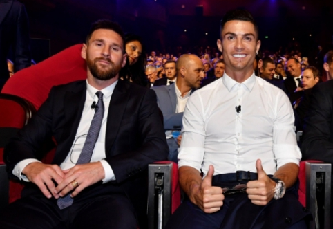 C.Ronaldo: norėčiau papietauti su L.Messi