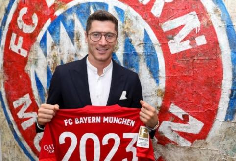 """Oficialu: R. Lewandowskis pasirašė naują kontraktą su Miuncheno """"Bayern"""""""