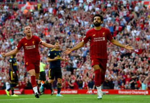 """Pirmoje vietoje liekantis """"Liverpool"""" lengvai susitvarkė su """"Arsenal"""""""