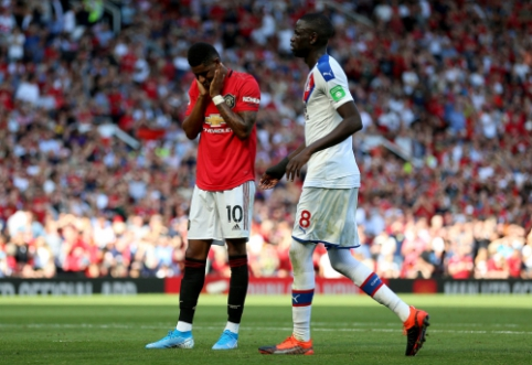 """""""Man Utd"""" per pridėtą laiką nusileido """"Crystal Palace"""" ekipai"""