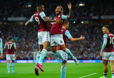 """""""Aston Villa"""" iškovojo pirmuosius taškus """"Premier"""" lygoje"""