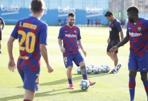 """L. Messi grįžo į treniruotes ir bus registruojamas mačui su """"Real Betis"""""""