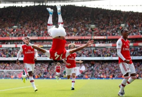 """""""Arsenal"""" po intensyvios kovos įveikė """"Burnley"""""""