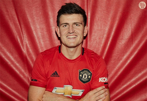 """Oficialu: """"Man Utd"""" nepagailėjo įspūdingos sumos už H.Maguire'ą"""
