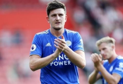 """P. Guardiola tiki, kad H. Maguire'as padės """"Man Utd"""" ekipai kovoti dėl """"Premier"""" lygos trofėjaus"""
