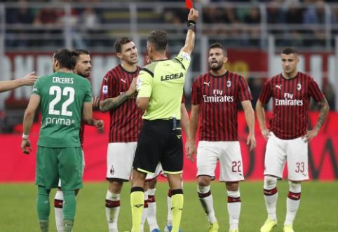 """""""AC Milan"""" patyrė trečiąjį pralaimėjimą iš eilės """"Serie A"""" pirmenybėse"""
