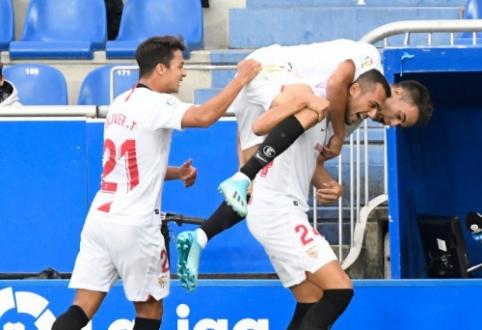 """""""Sevilla"""" įveikė """"Alaves"""" ir atsidūrė """"La Liga"""" pirmenybių viršūnėje"""