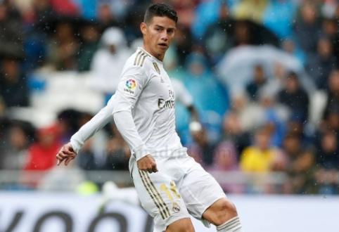 Z. Zidane'as pasidžiaugė J. Rodriguezo žaidimu