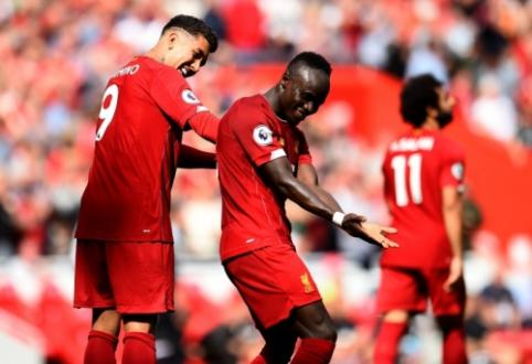 """Po ankstyvo įvarčio atsitiesęs """"Liverpool"""" pratęsė pergalių seriją Anglijoje"""