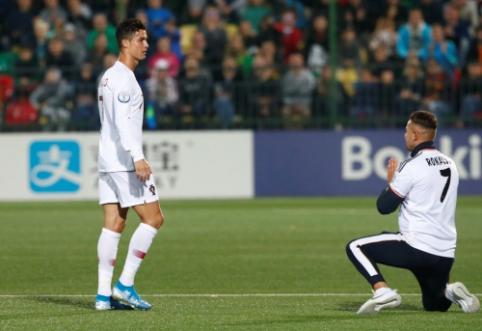 Su C. Ronaldo nusifotografuoti norėjusiam sirgaliui – įspūdinga bauda