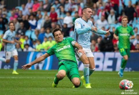"""Real Sociedad"" kyla į trečiąją poziciją ""La Liga"" pirmenybėse"