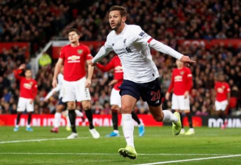 """""""Liverpool"""" išvengė pirmojo sezono pralaimėjimo """"Old Trafford"""" stadione"""