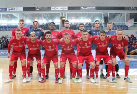 """Futsal Čempionų lygoje 55 """"Vyčio"""" smūgiai nevirto pergale"""