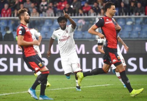 """Nesėkmių seriją nutraukusi """"AC Milan"""" ekipa dramatiškoje dvikovoje įveikė """"Genoa"""""""