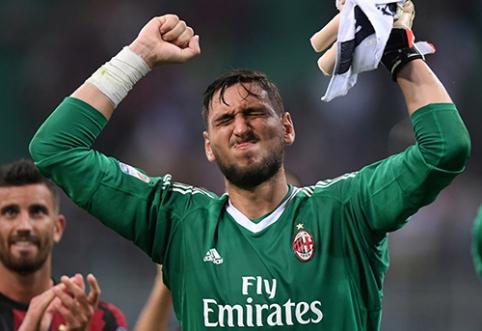"""G.Donnarumma atsisakė pratęsti kontraktą su """"Milan"""""""
