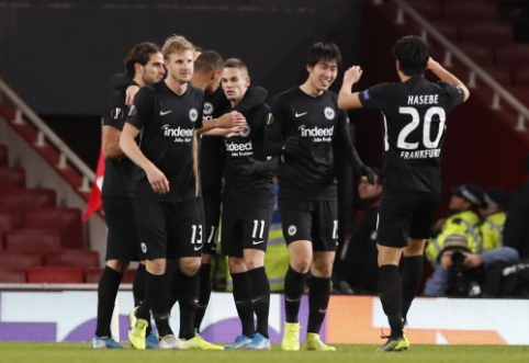 """EL: """"Eintracht"""" išvykoje įveikė """"Arsenal"""", """"Lazio"""" palaužė G. Arlauskio ekipą"""