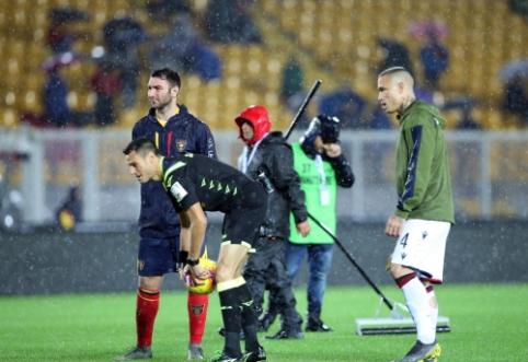 "Dėl smarkaus lietaus atidėtos ""Serie A"" rungtynės"