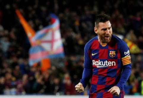"""L. Messi vėl rodė savo magiją, o """"Barcelona"""" grįžo į pergalių kelią"""