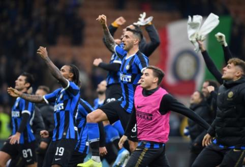 """""""Inter"""" išsigelbėjo mače su """"Verona"""", """"Napoli"""" ir toliau barsto taškus"""
