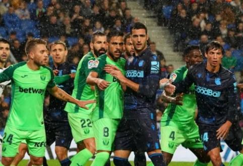 """""""Leganes"""" išvykoje atėmė taškus iš """"Real Sociedad"""""""