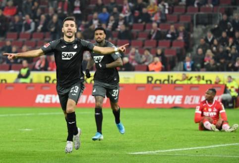 """""""Hoffenheim"""" išplėšė dramatišką pergalę mače su """"Koln"""""""