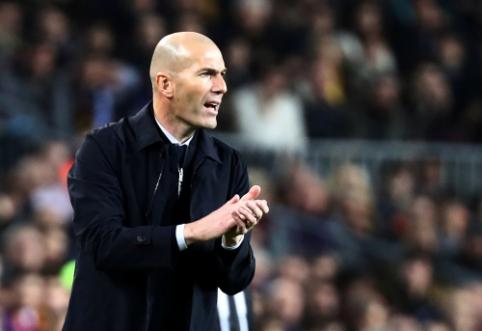 Z. Zidane'as neplanuoja ieškoti pastiprinimo puolėjo pozicijoje