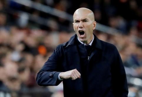 """Z. Zidane'as: """"Džiugu dėl žaidėjų atsidavimo, gaila dėl rezultato"""""""