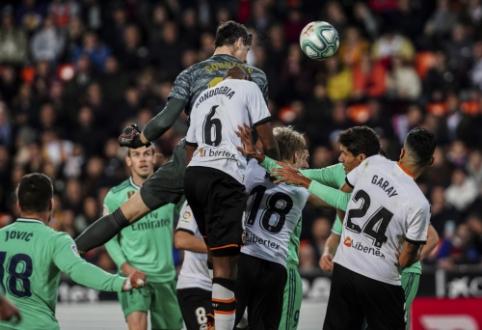 """""""Real"""" paskutinę rungtynių akmirką išplėšė lygiąsias prieš """"Valencia"""""""