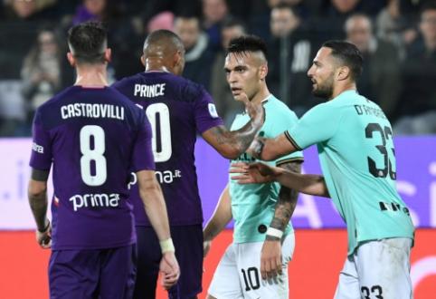 """""""Inter"""" paskutinėmis minutėmis išleido pergalę iš savo rankų"""