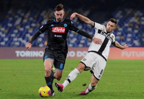 "G. Gattuso prie ""Napoli"" vairo debiutavo pralaimėjimu"