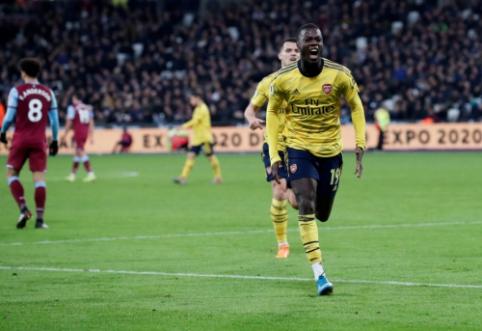 """F. Ljungbergas po pergalės prieš """"West Ham United"""" džiaugėsi N. Pepe pasirodymu"""