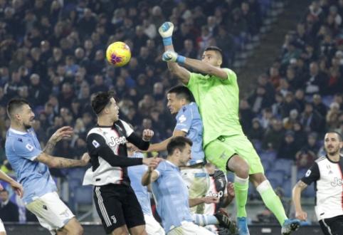 """""""Serie A"""": Romoje kritusi """"Juventus"""" ekipa nepasinaudojo šansu sugrįžti į pirmąją vietą"""