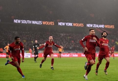 """Nepalaužiami: """"Liverpool"""" vėl išplėšė pergalę rungtynių pabaigoje"""