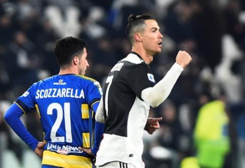 """C. Ronaldo vedė """"Juventus"""" į pergalę mače su """"Parma"""""""