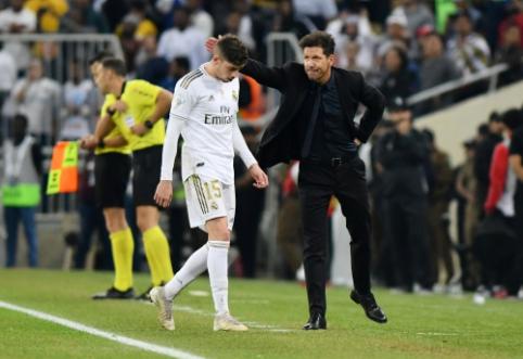 """D. Simeone apie F. Valverde pražangą: """"Jis laimėjo rungtynes savo komandai"""""""
