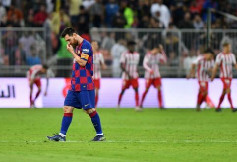 """Penkių įvarčių trileris baigėsi netikėtu """"Barcelona"""" pralaimėjimu Supertaurėje"""