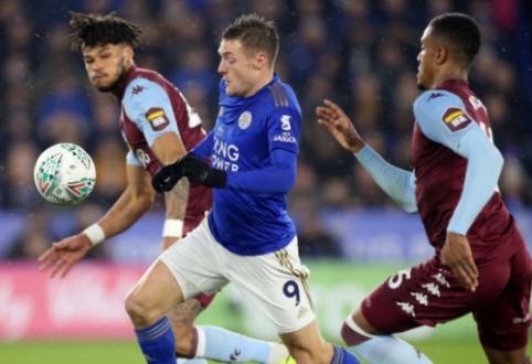 """Anglijos lygos taurės pusfinalyje – """"Leicester"""" ir """"Aston Villa"""" lygiosios"""