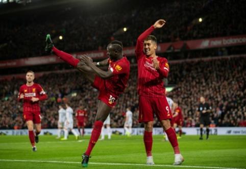 """Be konkurencijos """"Premier"""" lygoje žygiuojantis """"Liverpool"""" įveikė varžovus iš Šefildo"""