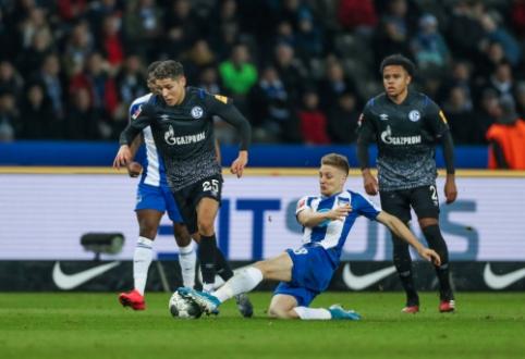"Vokietijoje – ""Hertha"" ir ""Schalke"" komandų lygiosios"