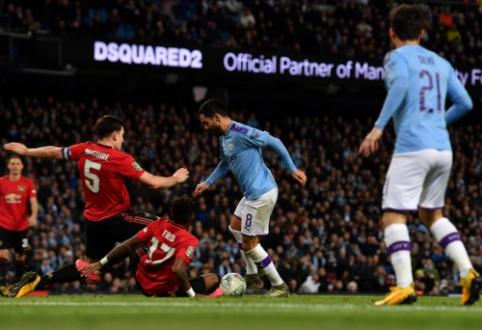 """Anglijos lygos taurė: """"Man Utd"""" įveikė """"Man City"""", tačiau į finalą žengė """"miestiečiai"""""""