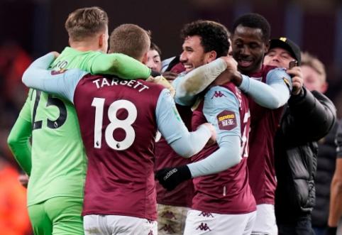 """""""Aston Villa"""" įveikė """"Leicester"""" ir žais Anglijos lygos taurės finale"""