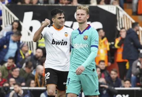 """Valensijoje – """"Barcelona"""" ekipos nesėkmė"""