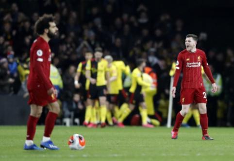 """""""Arsenal"""" rekordas – toliau nepajudinamas: """"Liverpool"""" patyrė pirmąją nesėkmę """"Premier"""" lygoje"""